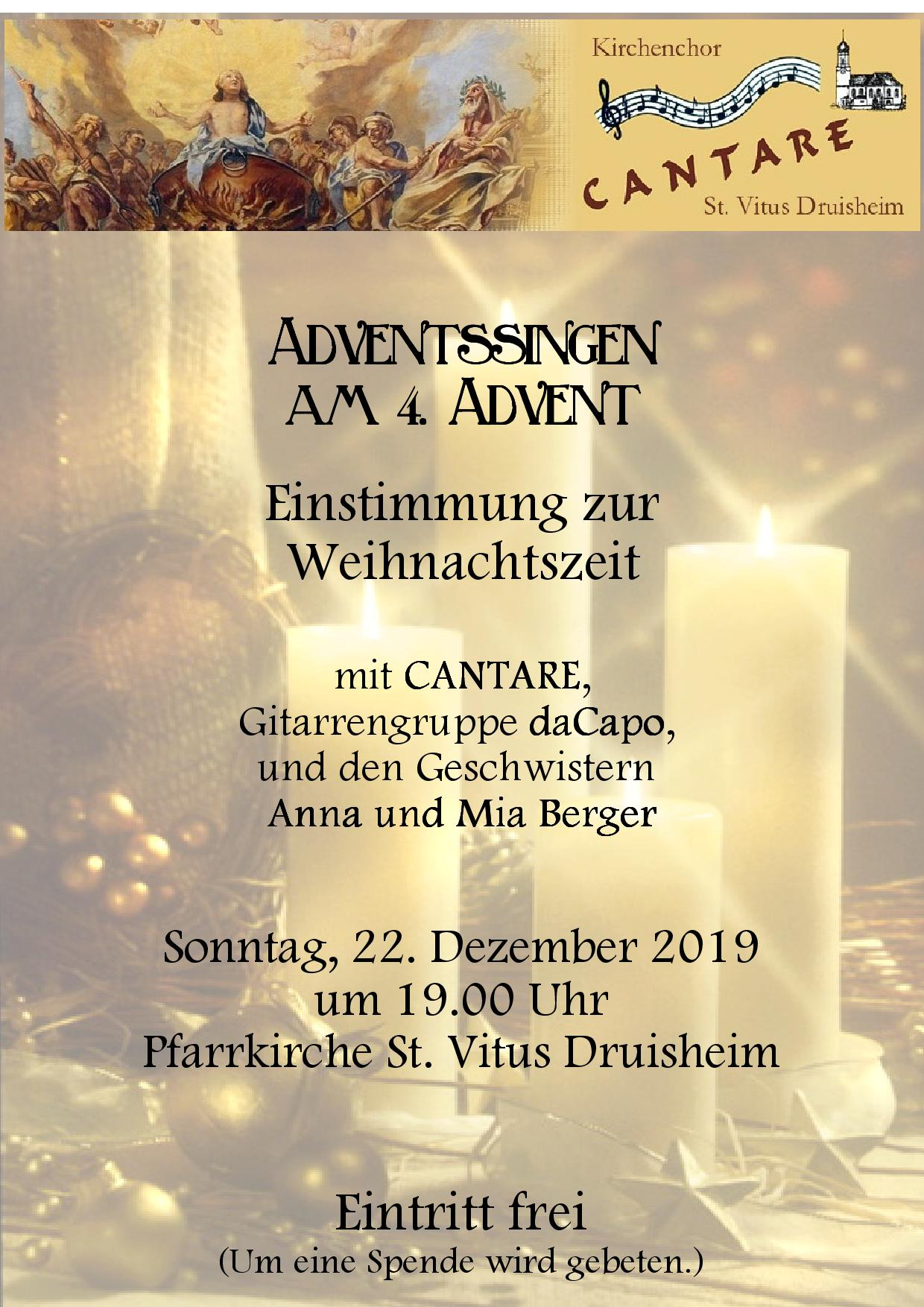 plakat adventssingen